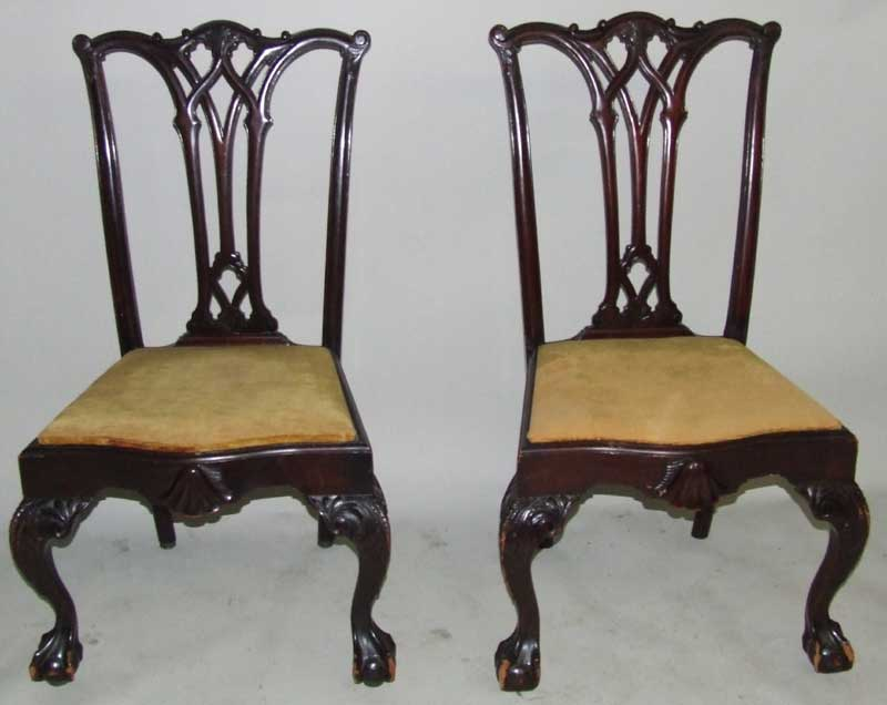 Chippendale Chairs Auction Chippendale Chairs 9