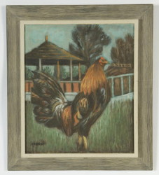 """The Hatchcock in Front of Gazebo"" – size 24"" x 20""  - by F.R. Childs (Childs Estate, Darien, CT)"