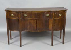 Fine Centennial Heppelwhite Mahogany inlaid sideboard (Needham, MA home)