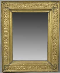"18th Century Italian gold gilt mirror (previously a picture frame) overall size 29"" x 23 ¼"", sight size:  20 ¼"" x 15 ¼"""
